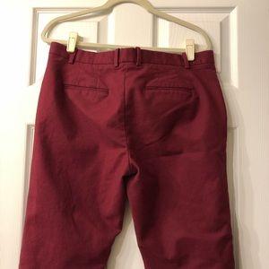 GAP Pants - GAP Maroon Slim Crop Pixie Pants